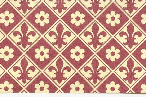 Carta Giglio e Fiori Rosso 50x70cm (cod. 1730)