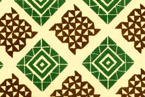 Carta Varese Disegni Geometrici Verde e Marrone 50x70cm (cod. 0866)