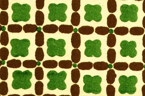 Carta Varese Disegni Geometrici Marrone e Verde 50x70cm (cod. 0132)