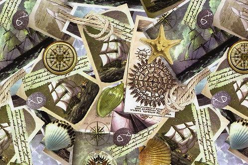 Carta Viaggi Francobolli 50x70cm (cod.5058)