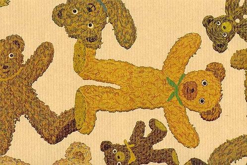 Carta con Orsetti di Pezza 50x70cm (cod.1656)