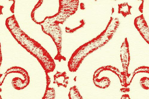 Carta Giglio e Leone Rosso 50x70cm (cod. 0025)