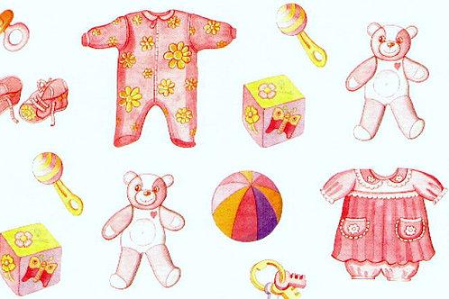Carta con Bebè Rosa 50x70cm (cod. 5064)