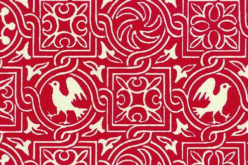 Carta Varese Uccelli Rosso 50x70cm (cod. 0189)