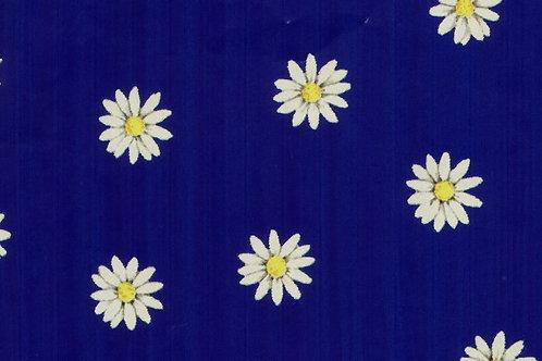 Carta Fiori Bianchi Sfondo Blu 50x70cm (cod. 1570)