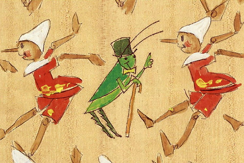 Carta con Pinocchio e Grillo Parlante 50x70cm (cod.1601)