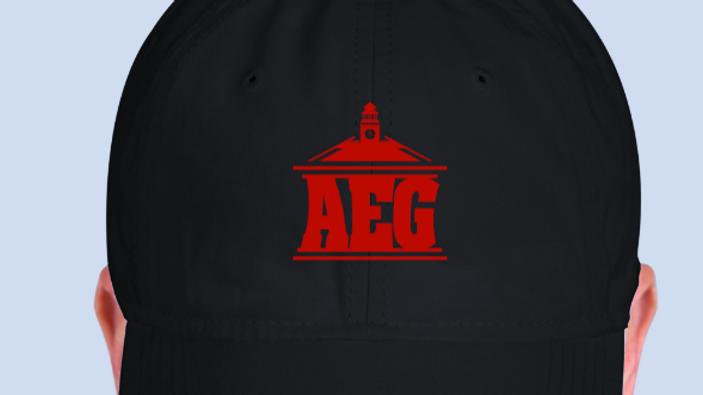 Black & Red Logo Hat