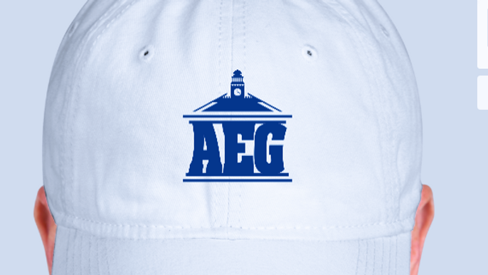 White & Blue Logo Hat