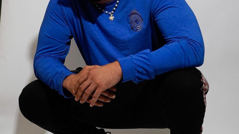 AEG x Eric Knott Long Sleeve (True Royal Tri Blend)