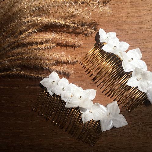HORTENSIA Einsteckkamm mit Blüten aus Seide