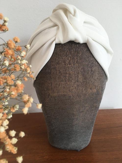 Turban Haarband aus Seide  Braut