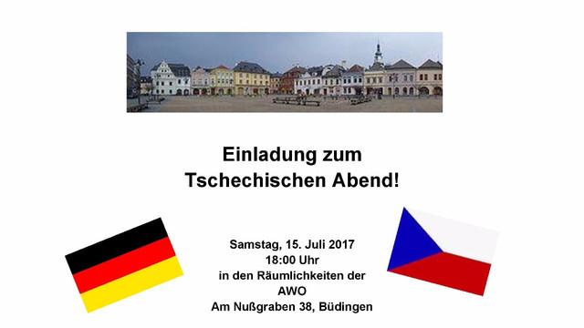 Einladung zum Tschechischen Abend