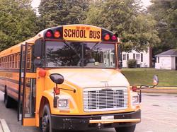 Typisch amerikanischer Schulbus