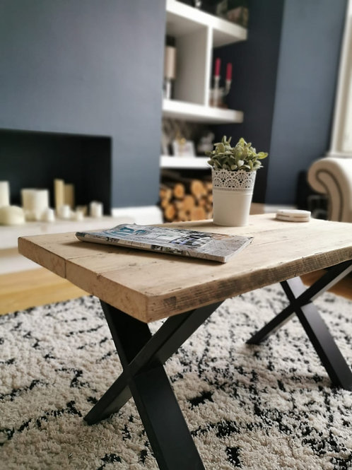 Handmade Coffee Table - X Legs