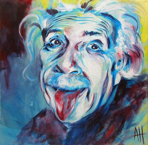 """Einstein SMALL PRINT 9"""" x 9"""""""