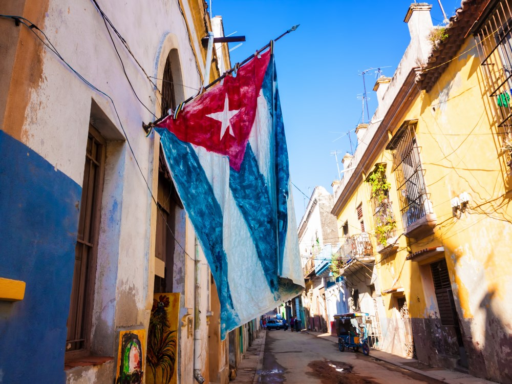 Latin America Cuba Old Havana street and