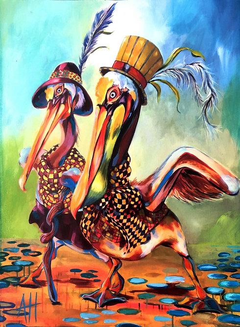 Pelican-Toed Beach Stroll & Tres Giraffiti CANVAS Prints for OC