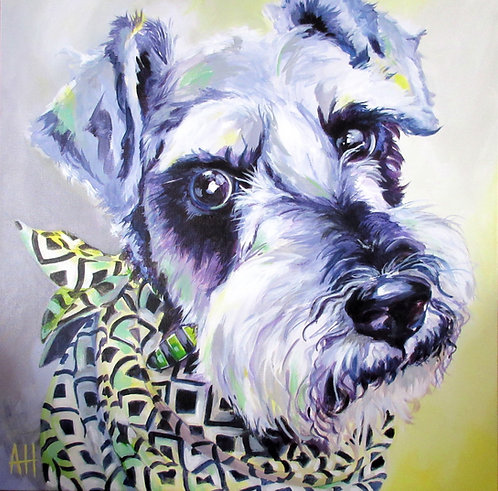 "Terrier  PRINT 14"" x 14"" (large)"