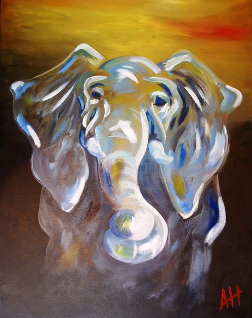 "Gray Elephant PRINT 9"" x 12"" (small #2)"