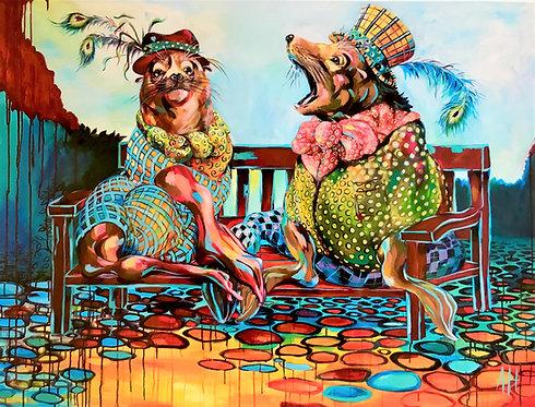 "SELKIE SEAL TALES Original Acrylic Painting 48"" x 60"""