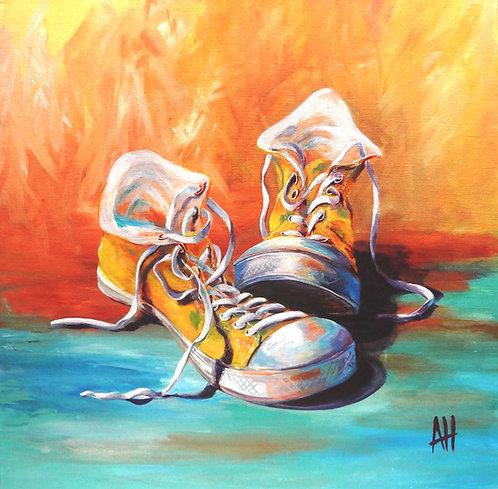 "Sunshine Shoes Paper Print (14"" x 14"")"