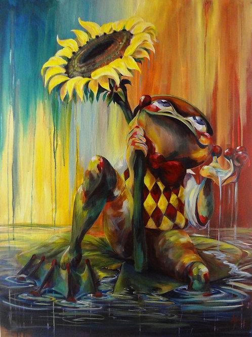 "Industrious Sunflower PRINT 9"" x 12"""
