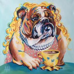 blond bulldog