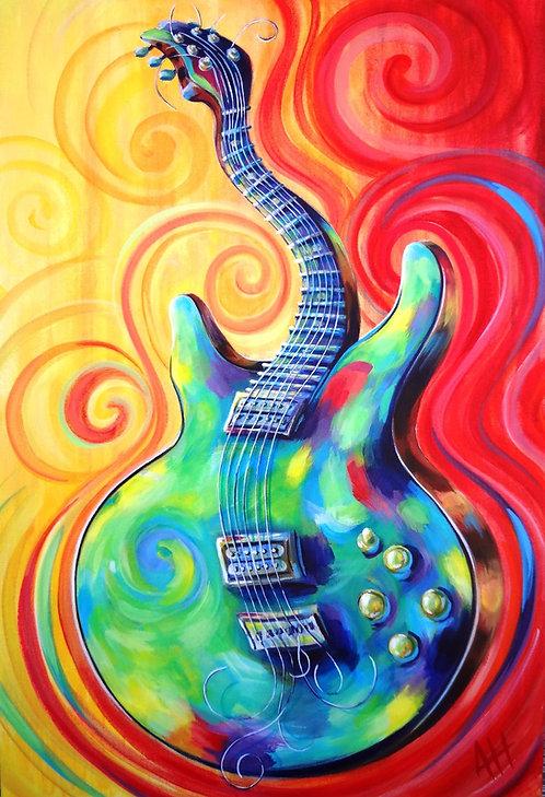 "Wailing Washburn (Guitar) PRINT 12"" x 18"""