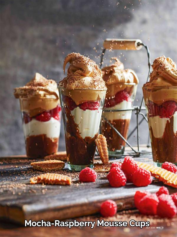 Mocha-Raspberry Mousse Cups