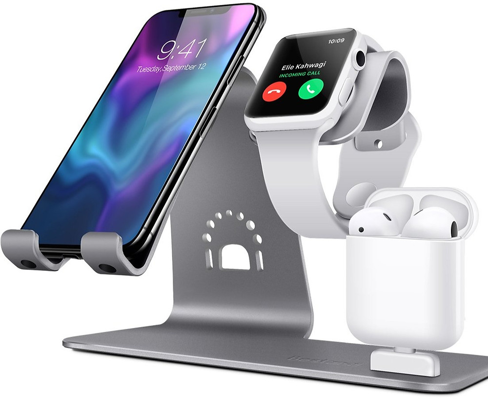 3 in one charging for iPhone, Apple Watch and AirPod.