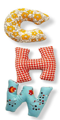 Sewing soft alphabet letters
