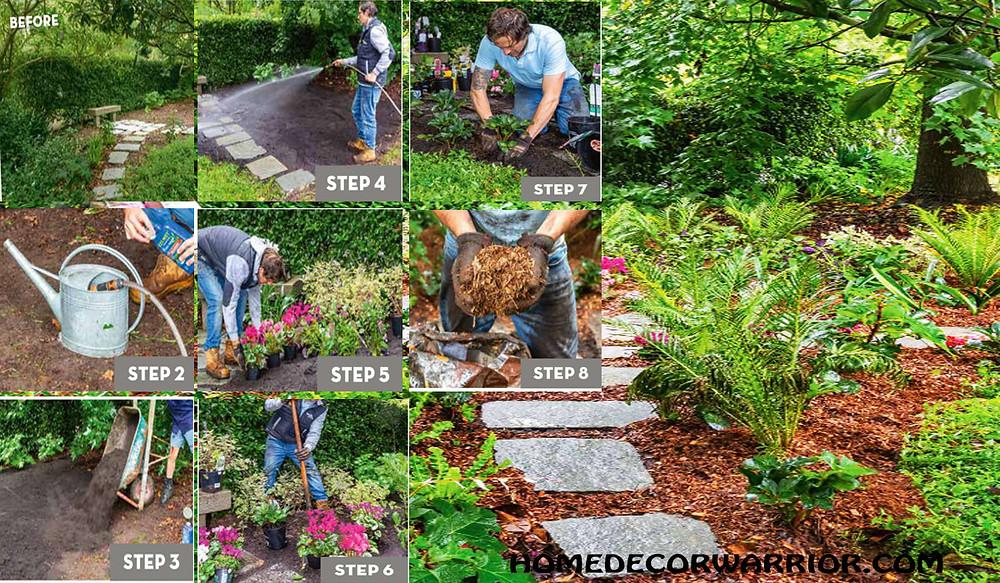 Steps to shade gardening