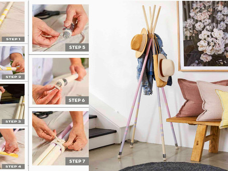 How Do You Build A Free Standing Stylish Coat And Hat Rack Or Coat Stand With Timber Poles Under $40