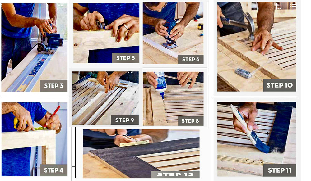 making twisted room divider step by step