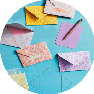 Homemade paper envelopes