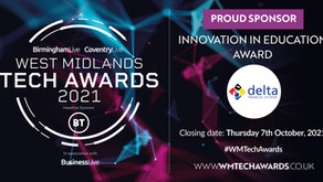 Delta is sponsoring the Innovation in Education Award at the 2021 West Midlands Tech Awards!
