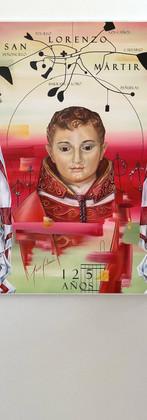 Cartel de San Lorenzo Martir 125años. Colaboración para Cofradía de San Lorenzo Mártir, by Jesús Calzada.