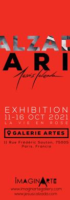Cartel Calzada Paris, exhibición en Galerie Artes.