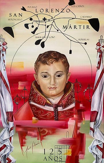 Jesús Calzada Art Gallery. Cartel de San Lorenzo Martir 125años Colaboración para Cofradía de San Lorenzo Mártir.