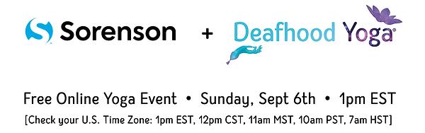 Sorenson & Deaf Hood Yoga Online Event
