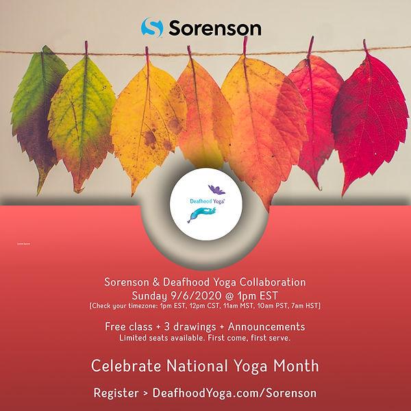 Sorenson & Deafhood Yoga Collaboration Fall Flyer