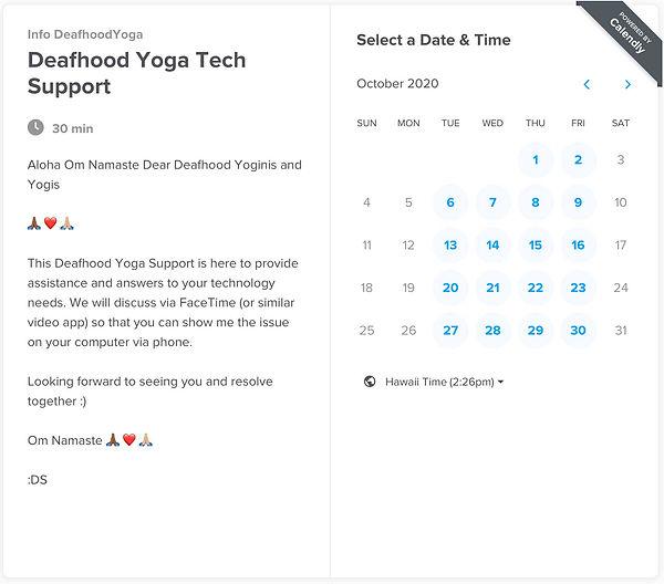 Deaf Hood Yoga Tech Support