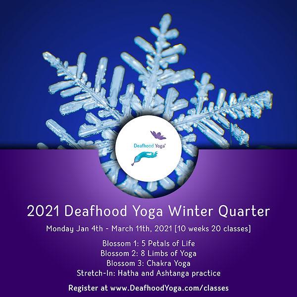 2021 Deafhood Yoga Winter Quarter Promo