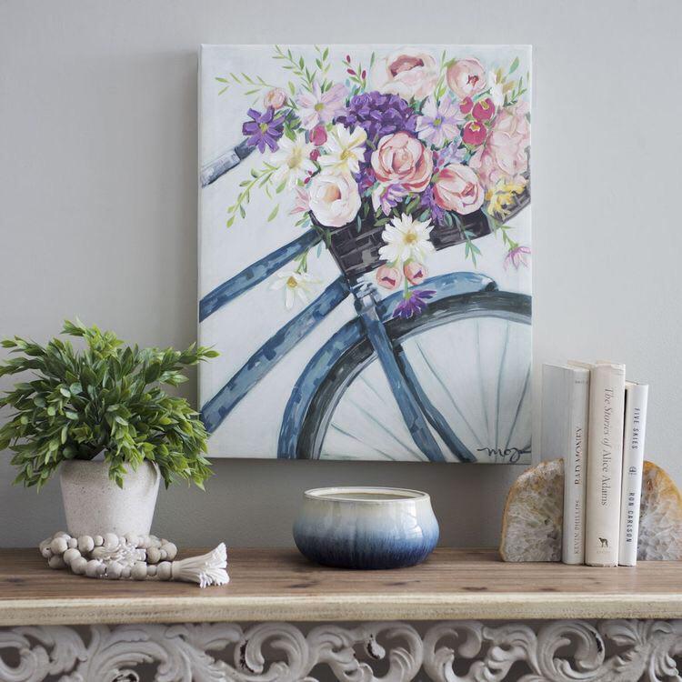 Велосипед в цветах 60х40 | 30 сент 19:00