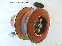 3-Seamartin vintage wooden & metal fishing reel model 4