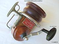 2-Seamartin vintage wooden & metal fishing reel model 4