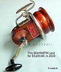 Seamartin vintage wood fishing reel Record price