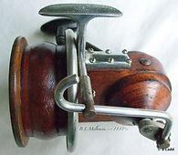 SEAMARTIN vintage wooden fishing reel