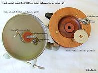 4- Seamartin wood & metal vintage fishing reel model 4 internal specification