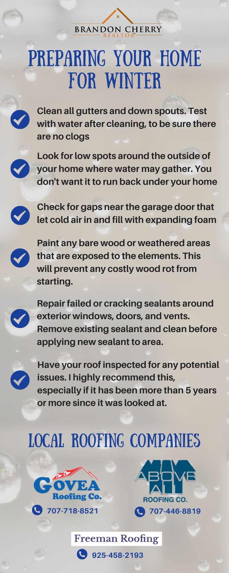 Easy list to protect your home from Winter